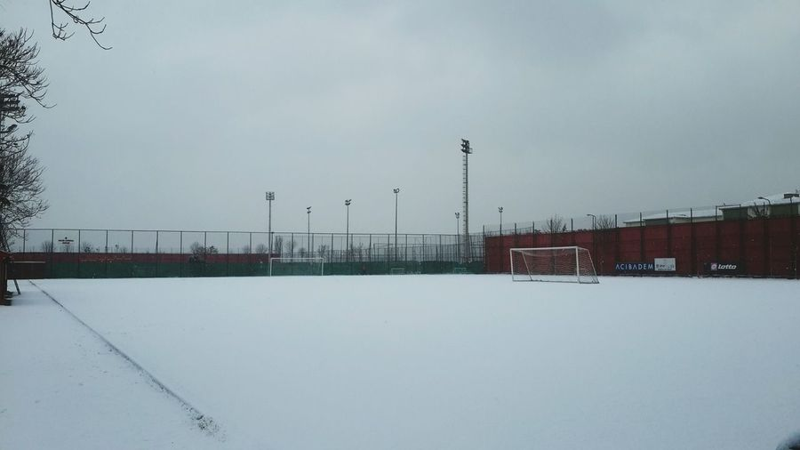 Snow ❄ Snow Snowing Goal Soccer White