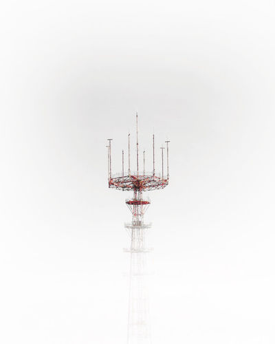 Foggy TV tower in Minsk, Belarus Technology Low Angle View No People Communication Architecture Tower Connection Broadcasting Sky Built Structure Antenna - Aerial Global Communications Outdoors Nature Wireless Technology Metal Minsk Belarus Tv TV Tower Radio Red Antenna