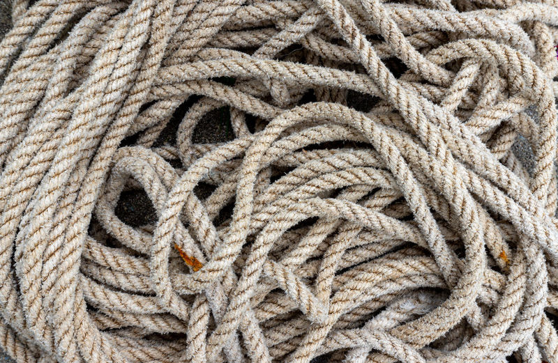 Full frame shot of ropes