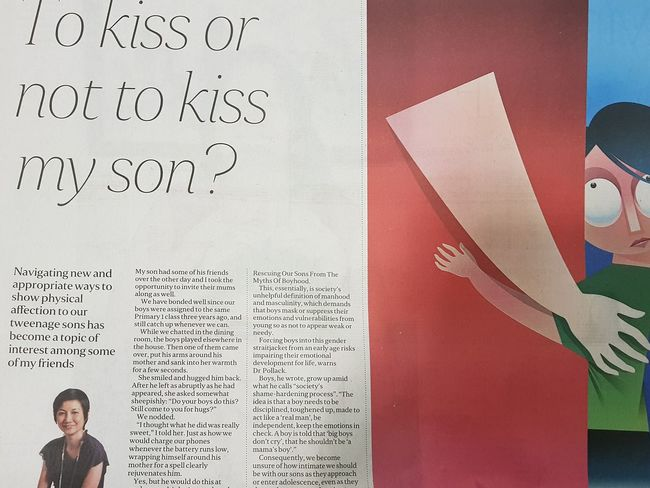Dumbest Article Kiss Your Sons Newspaper Article Singapore