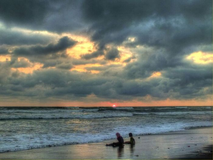 Parangtritis Beach HDR Panorama Clouds And Sky Eye4photography  Beach Sunset Landscape Enjoying The View