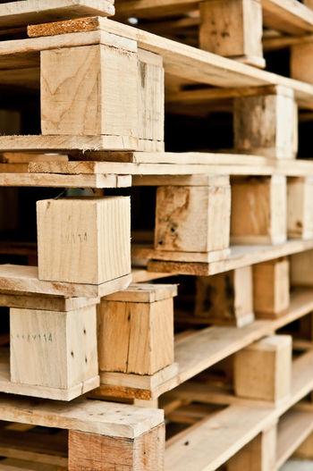 Full frame shot of wooden pallets