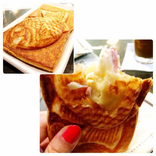 Taiyaki Croissant : Bacon Cheese ครัวซองต์ปลาปิ้ง กรอบนอกนุ่มใน ชีสยืดดด / ไส้ถั่วแดงก็เริ่ด!! มีอีก 2 ไส้ยังไม่ได้ลอง คือไส้เผือก กะไส้อัลมอนต์ น่าจะเริ่ดไม่แพ้กัน Taiyaki Croissant TAIYAKI
