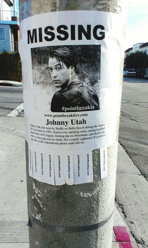 Posted near home. So went to see Point Break live! My advice: Buy the plastic poncho for $2 brah. MOVIE Theater Keanureeves Advertising Fun Funny