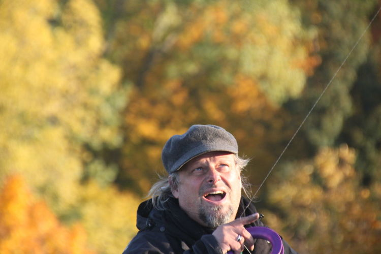 Teufelsberg Berlin Adult Autumn Beard Beauty In Nature Cap Day Focus On Foreground Leisure Activity Lifestyles Men Nature One Person Outdoors People Portrait Real People Tree Warm Clothing This Is Masculinity Go Higher Moments Of Happiness