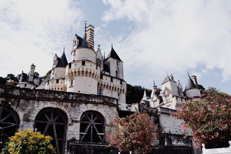 View of historic building - castle of the sleeping beauty - against sky. loire, france