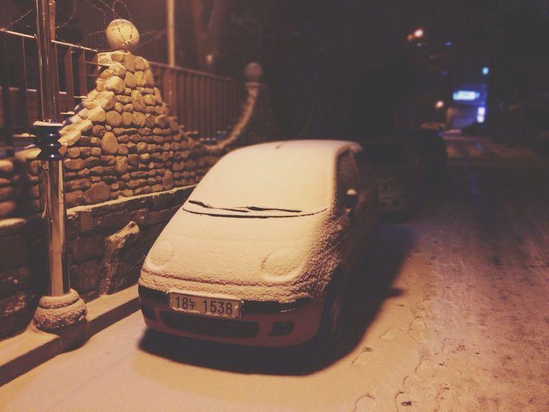 또 눈.. 서울보다 많이 왔네