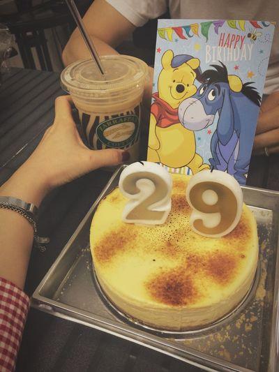 Happy Birthday! Birthday 29 Cheese Cake Birthday Cake Birthdaycard 0816 Husband Beblessed