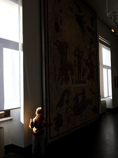 EyeEm Selects Curiosity Childhood Child Tapestry Shadows & Lights Surprised Museum Playing Shadow Darkness And Light Portrait Dark