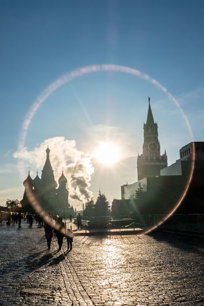 Kremlin Architecture Russia Moscow City Red Square Moscow Architecture Building Exterior City Clock Tower Sky Sunlight Sunny Morning Tourism Tourism Moscow Tourists Moscow Travel Destinations