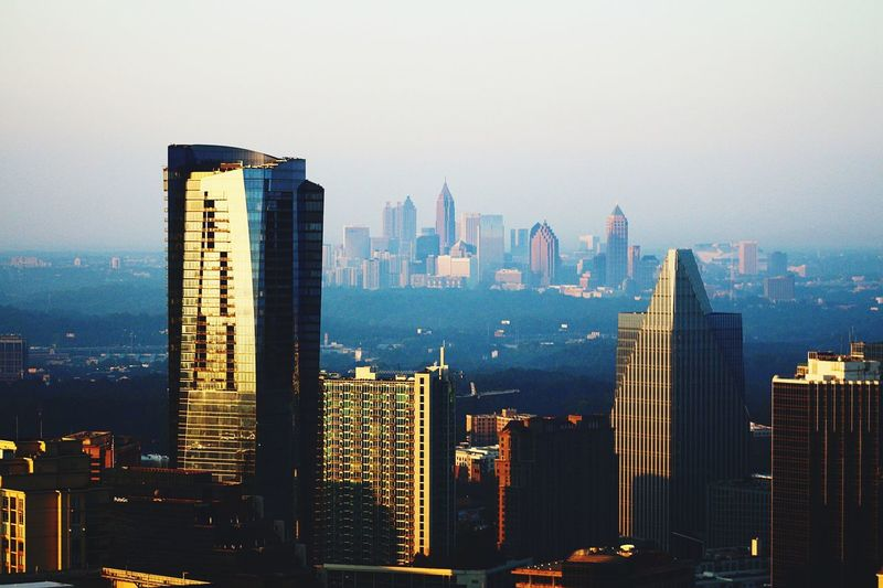 Distant city Skyscraper Cityscape Architecture City Building Exterior Tall - High Urban Skyline Modern Built Structure Tower Skyline Financial District  Downtown District Travel Destinations Outdoors Downtown Day Scenics Landscape Aviation Photography Aviationphotography Architecture Aerial View Majestic Atlanta, Georgia