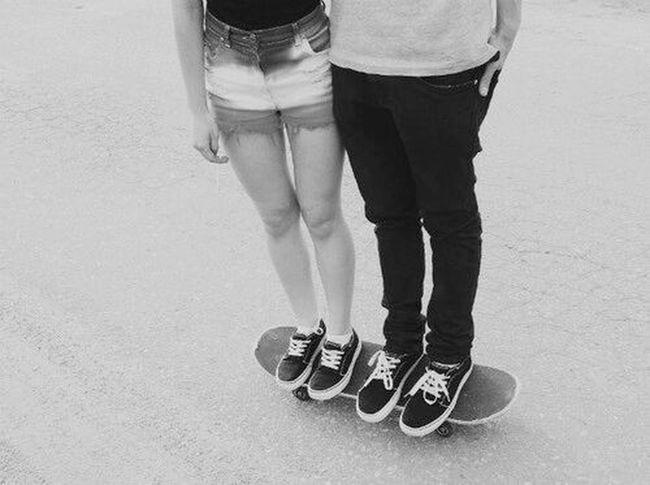 Skater Girl Skater Boy Love Vans Off The Wall