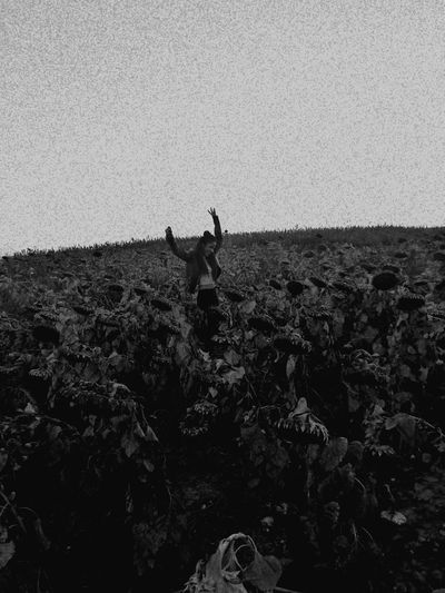 Vie Real People One Person Lifestyles Sky Day Person Outdoors One Woman Only Nature One Man Only Adult People Beauty In Nature Full Length Flowers Girasoleeeeee... Picofday Horizontal Nature Beauty In Nature Sun Blackandwhite Photography 000000 Miles Away