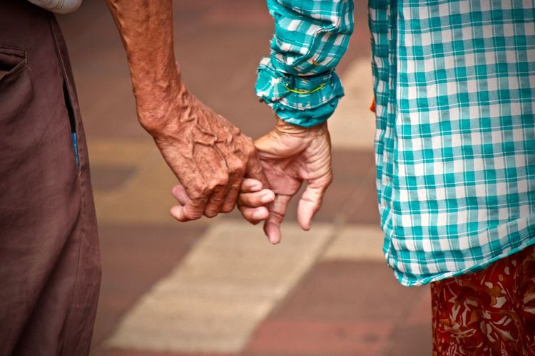 Amazing Casual Clothing Close-up Couple Cropped Cultures Elderly Eternal Love Friendship Hands Leisure Activity Lifestyles Love Mid Section Midsection Part Of Selective Focus Wedding