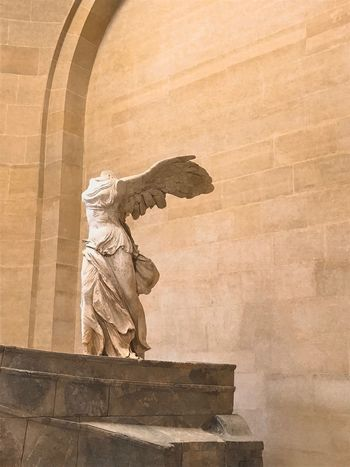 Single Winged Arte Louvre History Culture Angel Wings Escultura Classic Stone Textures And Surfaces Conceptual Sculpture Art