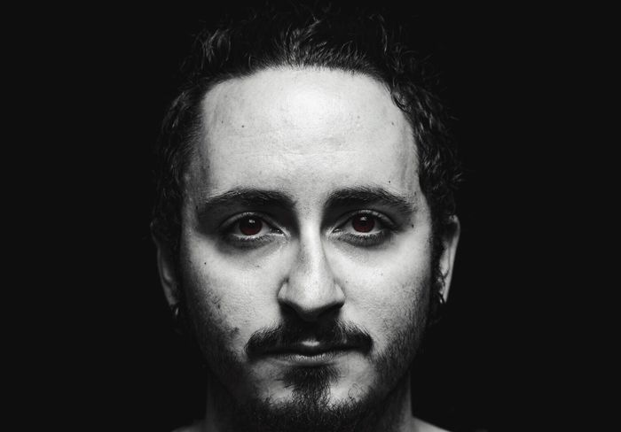 Red eyes Portrait Looking At Camera Human Face One Man Only Only Men One Person Adults Only Human Body Part Headshot Close-up Real People Adult Men Studio Shot Black Background People Young Adult Human Eye Actor Day Portrait Photography Blackandwhite Canon550D Photographer Canonphotography
