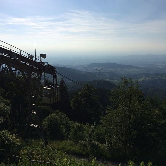Beauty In Nature Cable Railway Fog Hill Landscape Mountain Mountain Range Nature Schauinsland Tranquility