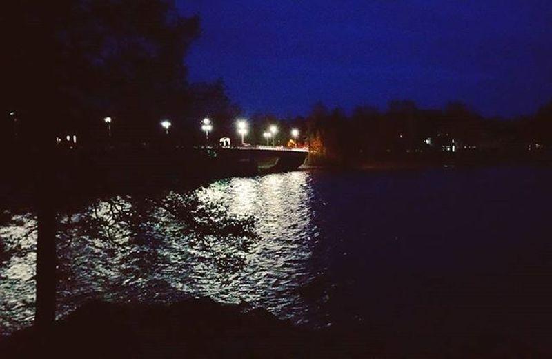 Geokätköilemässä pimeellä, ei tullu mitään koko hommasta 😂 Geocaching Geokätköily Väinölänniemi Kuopio Finland Night Dark Lake Nature Landscape Autumn