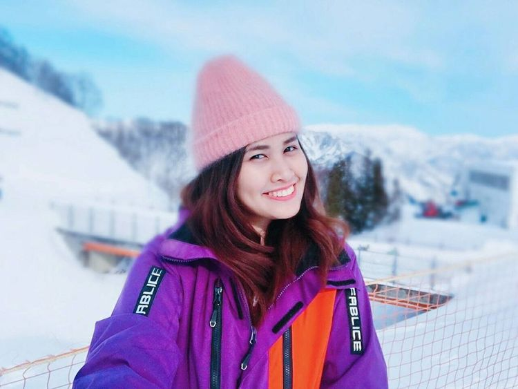 The cold never bothered me anyway ❄ Snow Skipark Nature Photography Galayuzawa Japan Japan Photography Wanderlust Winter Cold Temperature Snow Warm Clothing Only Women Smiling One Woman Only Outdoors Portrait Shades Of Winter EyeEmNewHere Shades Of Winter
