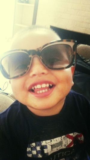 My Handsome Son Glasses :) Smile Dimples