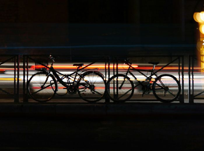Welcome To Black Rome, Italy Bicycles Nightphotography Nigtshot Citylights Mobility In Mega Cities Moving Around Rome