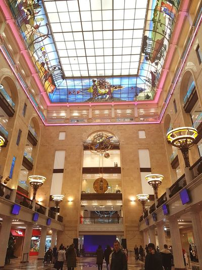 Detskiy Mir or Children'sbú Shopping Mall Kids Store Shop Moscow Russian Detskiymir Buildings Lights Building Childrensworld Downtown Russia Old Buildings Illuminated Ceiling City Architecture Built Structure Stained Glass Architecture And Art Decorative Art Architectural Design Interior
