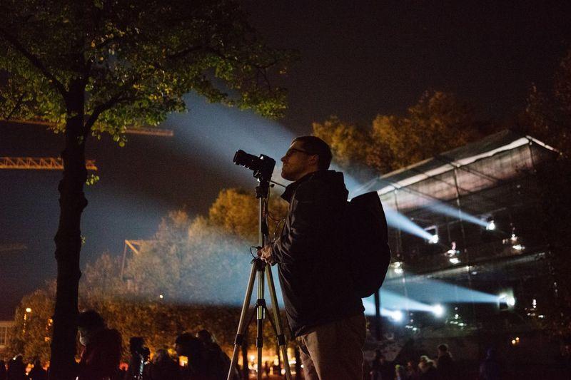 Taking Photos Of People Taking Photos Festival Of Lights 2015 Nightphotography Freelance Life