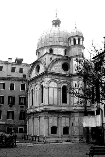 Architecture Black & White Black And White Blackandwhite Building Exterior Built Structure City City City Life Dome Low Angle View Outdoors Religion Spirituality Street Travel Travel Destinations Urban Urban Exploration Urban Landscape Venezia Venice
