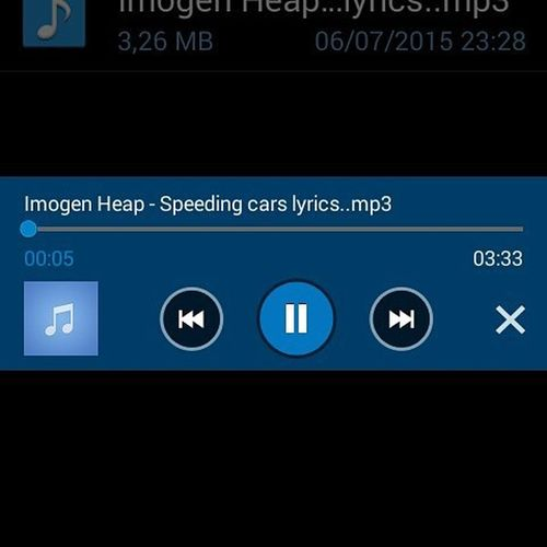 Listening ImogenHeap Speeding Cars