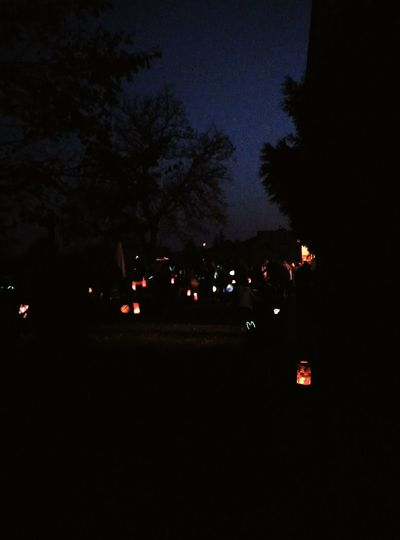 Fall Lampions Night Colors Forchildren