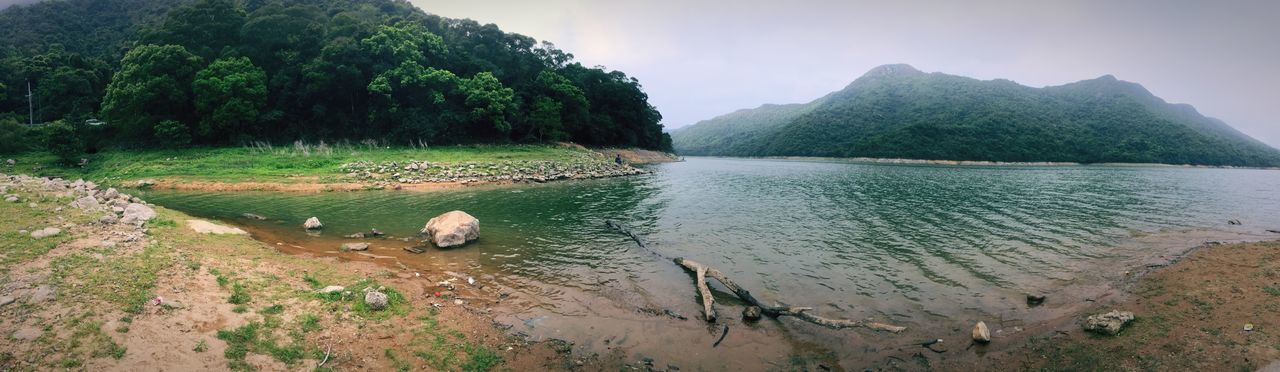 Nature Scenics Tree Water Beauty In Nature Day Outdoors River Mountain Landscape Sky Riverside HongKong Panorama River View