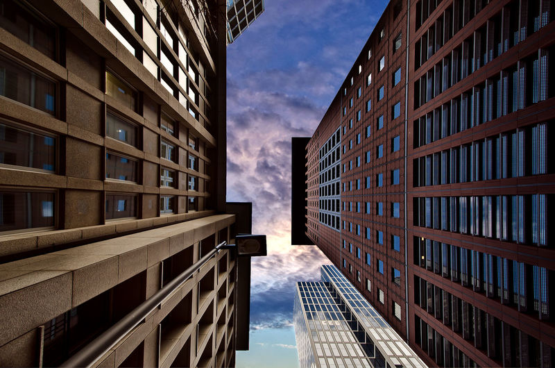 EyeEm Best Shots EyeEm Gallery EyeEmNewHere Frankfurt Am Main Apartment Architecture Building Building Exterior Built Structure City City Life Cloud - Sky Day Directly Below Low Angle View Modern No People Office Office Building Exterior Outdoors Residential District Sky Skyscraper Tall - High Window