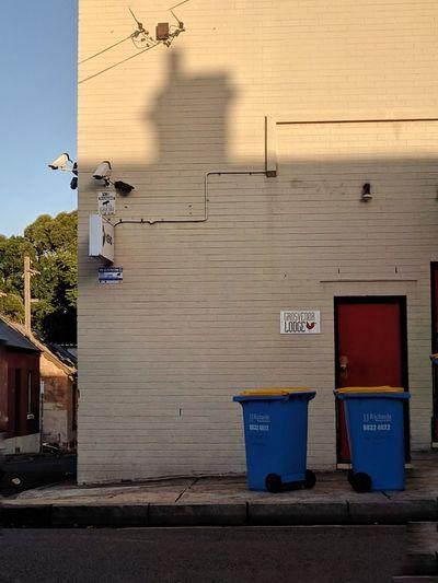 Security Camera Corner Suburbs Garbage Environment Shadow Architecture Surveillance