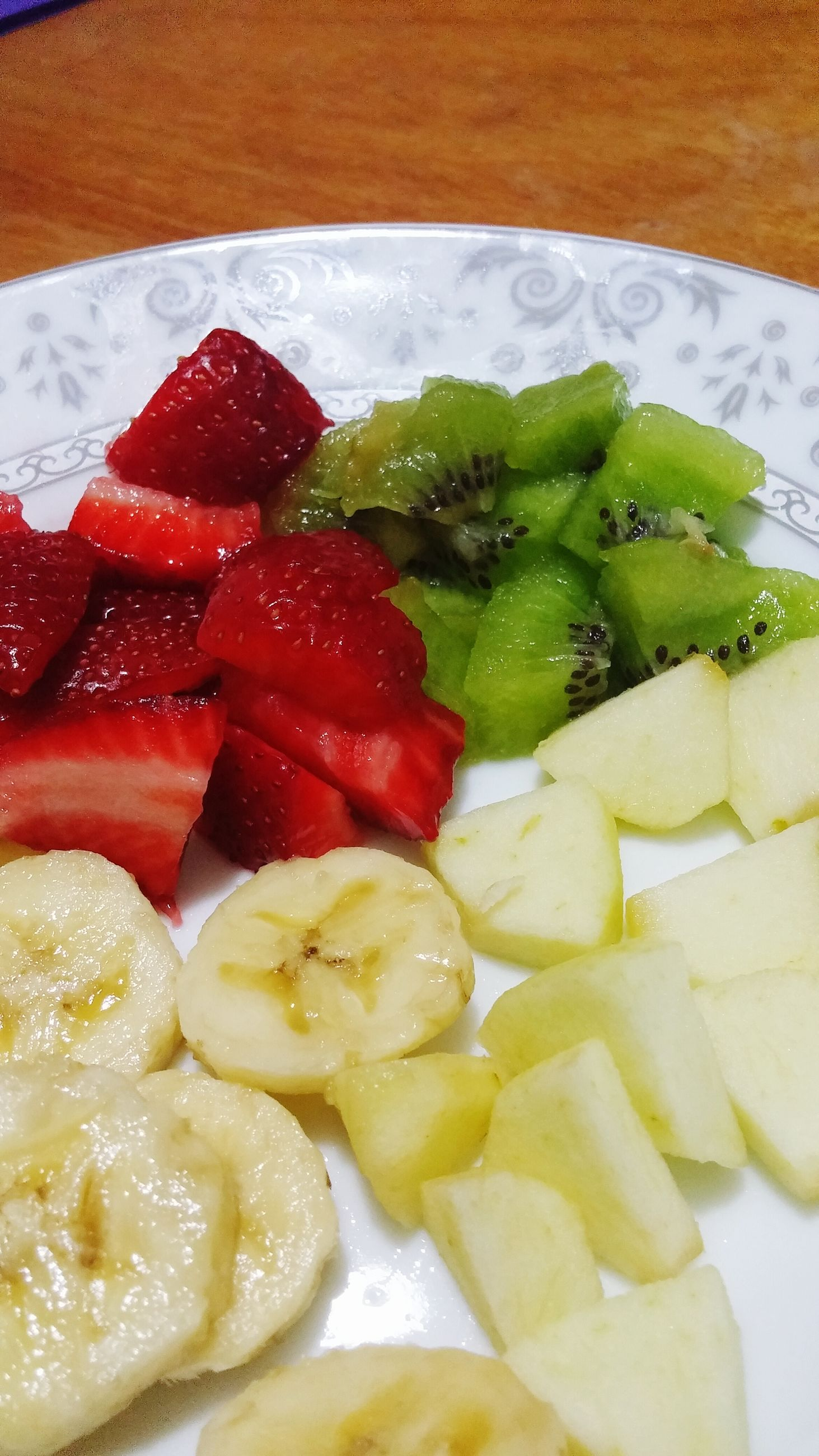food and drink, food, freshness, indoors, ready-to-eat, still life, healthy eating, plate, close-up, indulgence, serving size, slice, high angle view, meal, table, fruit, strawberry, no people, salad, temptation