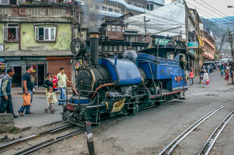Transportation Mode Of Transport Outdoors Day Architecture No People WestBengal Darjeeling Himalayan Railway Darjeeling Rail Darjeeling West Bangal Historical World Heritage Heritage Toy Train Steem Engine India Locomotive Steam Train Streetphotography Smoke Rail Engine Public Transportation Land Vehicle
