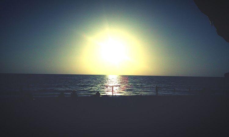 Sunset Ocean Beauty Enjoying Life Relaxing Blue