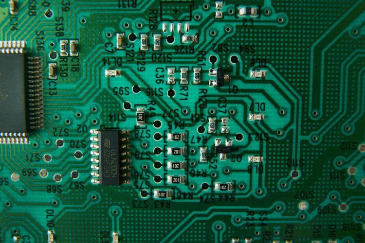 Full frame shot of circuit board