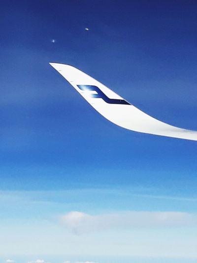 Finnair Airplane Flying Sky Air Vehicle Space Aerospace Industry Travel Transportation