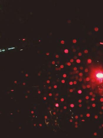 rain + traffic Red Redlights Cars