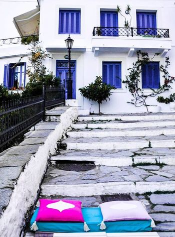 #skiathos Architecture Blue Building Exterior Built Structure Day Multi Colored No People Outdoors Residential Building