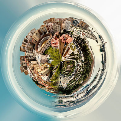 Little planet 360 degree sphere. Panoramic view of Malaga, Spain 3 Dimensional 360 Degree 360 Panorama Architecture City Cityscape Malaga Panorama Panoramic SPAIN Skyline Sphere Above Architecture Globe Landscape Planet Port Sea Skyscraper Three Dimensional Three Dimentional Photography Urban Landscape Urban Skyline World