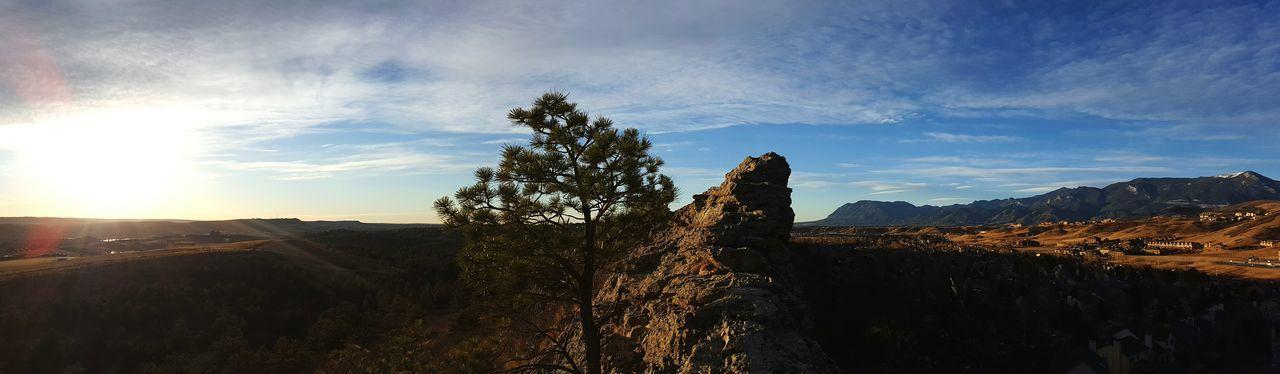 Colorado Outdoors Nature Landscape Tree Sky Photooftheday EyeEmNewHere Panorama Sunrise No People TheGreatOutdoors Greettheoutdoors Nikon Relaxing Moments Rugged Terrain Outdoor Photography