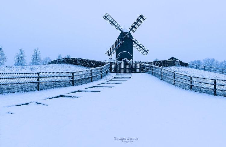 Wind mill in Marzahn Alt-marzahn Berlin Cold Temperature Marzahn Outdoors Schneelandschaft Snow Wind Mill Windmühle Winter