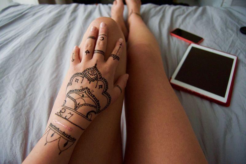 Tattoo on human hand