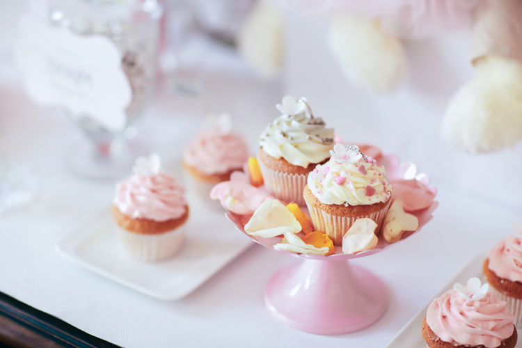 Close-Up Of Cupcakes With Copy Space