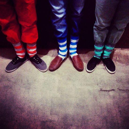 UnDeuxTrois! ? Feetobsession Boys Socks Colorful christmascheer lovethem feet instapic instafeet instalove instalike instafun blue orange green threemadboys three merrychristmas funtastic posers happyyearending goodbye2014