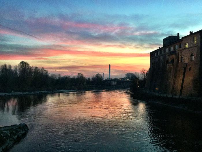Tramonto sulla Muzza Muzza Tramonto Sunset Italy Cassano D'adda Lombardia Lombardy Adda