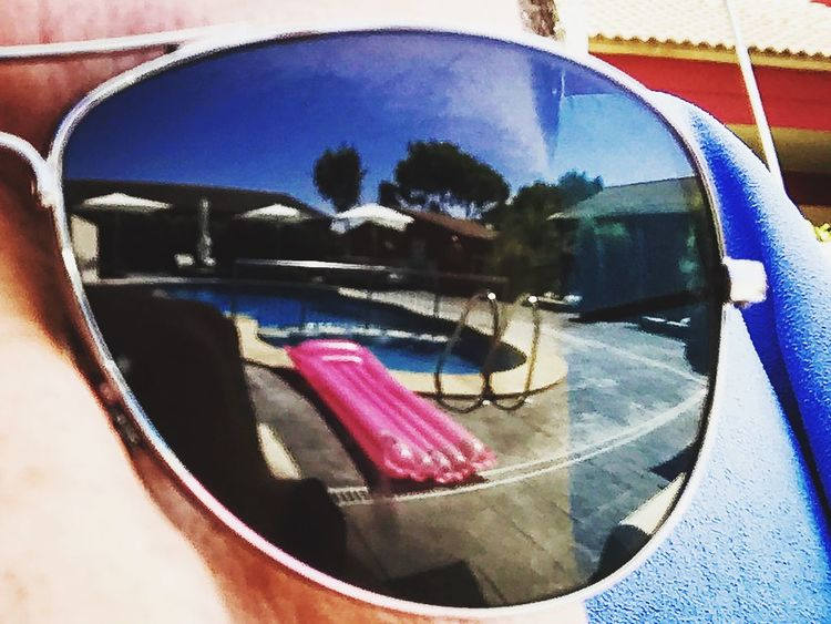 Poolview Reflection Sunlight Summer Mallorca noclouds sunglass