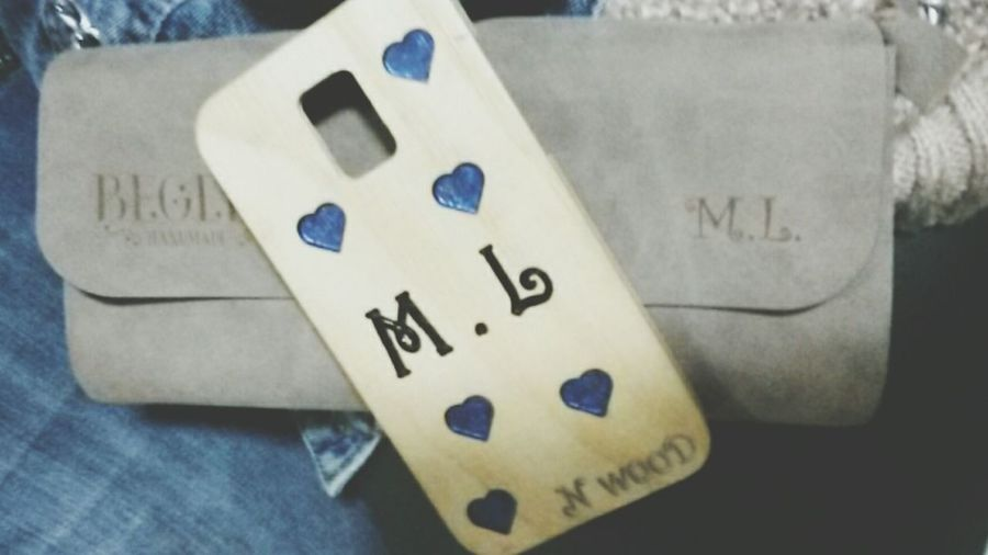 Handmade Made Specially For Me Bag Phonecase M.L Hearts