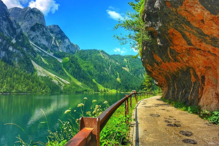 Wanderlust Gosausee Salzkammergut, Austria Hiking Hikingadventures Travel Dachstein Mountains Lake Colour Of Life An Eye For Travel